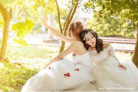 (D&L 婚禮事務)台中婚紗 閨蜜婚紗-泰安舊火車站 婚紗攝影