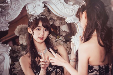 (D&L 婚禮事務)台中婚紗 婚紗攝影 莫內的花園 平面攝影