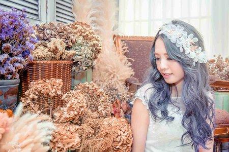 [婚紗寫真] 台中婚紗 婚紗攝影 與乾燥花邂逅 自助婚紗 婚紗照 平面攝影