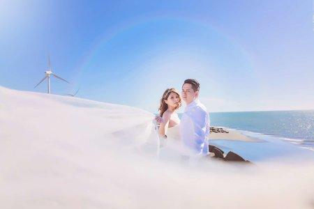(D&L 婚禮事務)台中婚紗 婚紗攝影 彰濱海岸 N I-自助婚紗 平面攝影