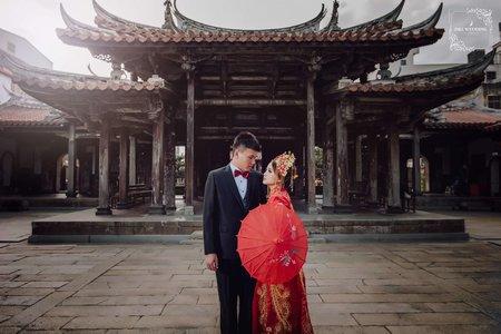 D&L 婚禮事務 台中婚紗 婚紗攝影 龍鳳褂 鹿港龍山寺 自助婚紗 平面攝影