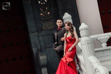 [自助婚紗] 台中婚紗 婚紗攝影 孔廟 自助婚紗 婚紗照 平面攝影.