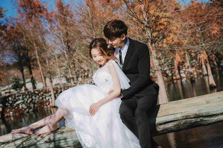 [自助婚紗] 婚紗攝影/台中泰安落羽松/自助婚紗/婚紗照/平面攝影