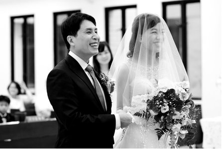 高雄自然系女婚攝(心之谷攝影工作室)-教會婚禮-B&W