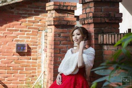 新竹魚池宴會館-文定儀式-三合院唯美類婚紗