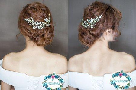 極短髮新娘造型