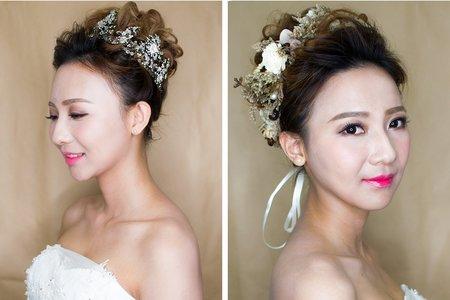 短髮婚紗造型