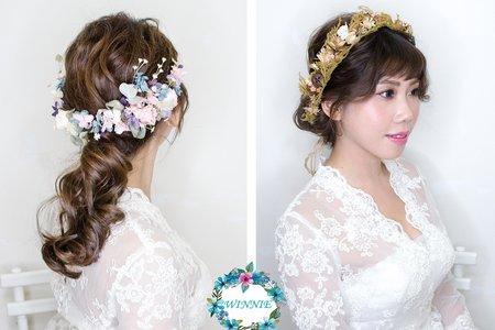 浪漫花朵新娘造型
