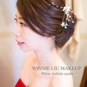 Winnie Liu白色時尚新秘!