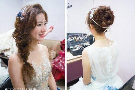 獨特又不失甜美的新娘