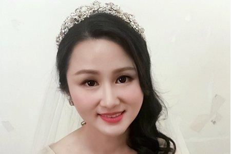 女神般的幸福新娘