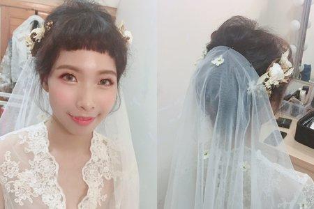 難得溫柔婉約的新娘