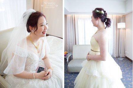 韓系招牌浪漫花飾的新娘(長榮酒店)