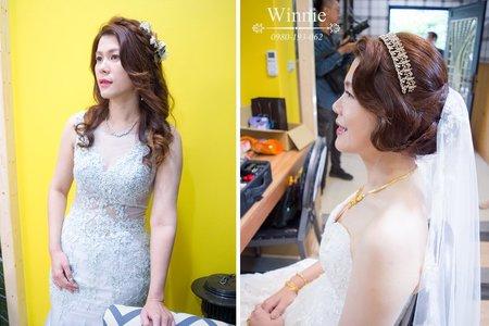 喜歡復古造型的新娘(善化大成餐廳)