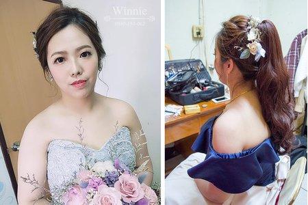 混血氣質妝容短髮新娘(雲林虎尾)