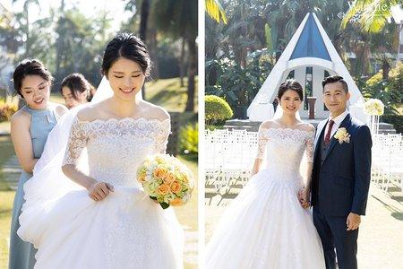 戶外證婚明星般的浪漫新娘(桂田酒店)