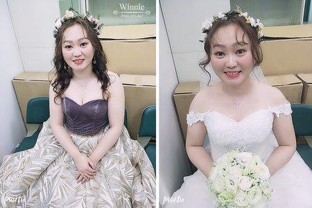 完全大改造的浪漫新娘造型(台南)