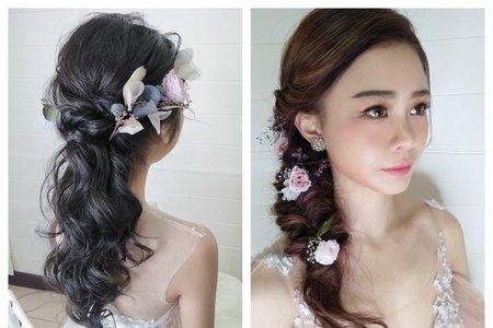 浪漫花飾品氣質新娘