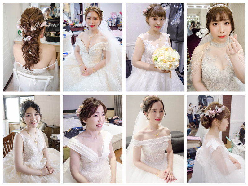 Winnie 細膩的新娘單妝髮作品