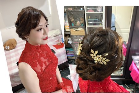 訂婚簡約韓式編髮