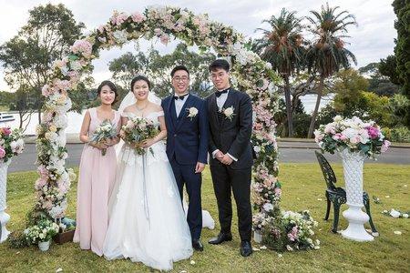 雪梨戶外婚宴紀錄