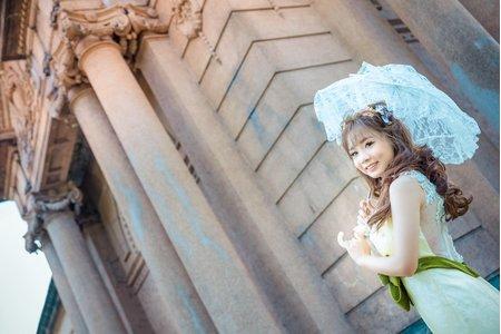 一個人的婚紗也是可以很夢幻滴
