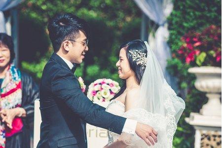 浪漫百分百的西式婚禮 戶外婚禮 西式證婚