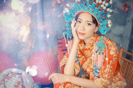 湘琳 秀禾服 漢服 古著 中國風 中式嫁衣 藝術照 人像攝影