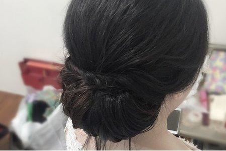 新娘Hsin-i Fang 白紗迎娶造型