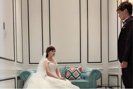 庭白紗造型