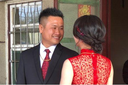 訂婚儀式紅旗袍