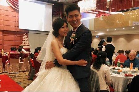 結婚 心型領白紗 低盤造型