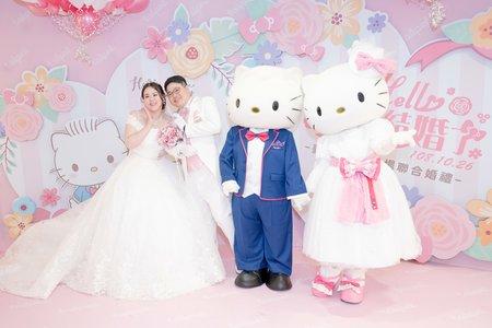台北市kitty聯合婚禮 柯文哲市長主婚- 粉色浪漫kitty婚禮