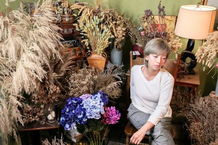 魔幻的乾燥花棚