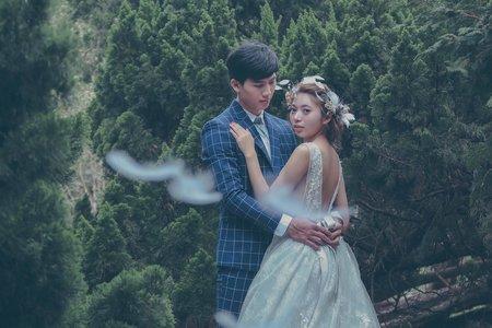 森林系+宮廷婚紗