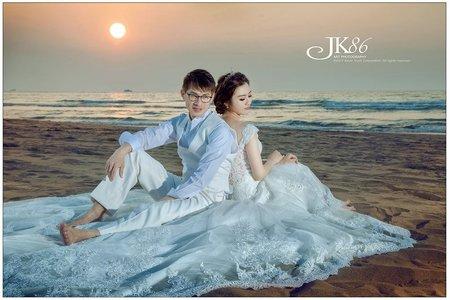 浪漫的海邊夕陽/婚紗包套/客照分享