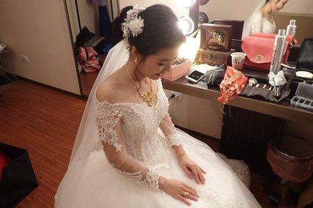 子晴韓風編髮婚宴白紗造型