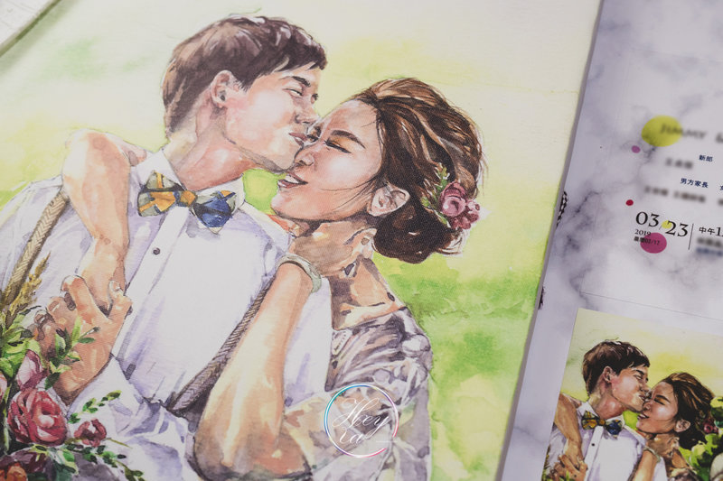 高質感婚禮/手繪類婚紗無框畫作品