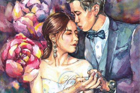 高質感婚禮/手繪類婚紗無框畫
