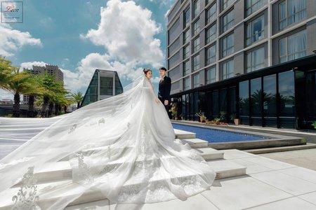 [婚攝] 新竹芙洛麗大飯店|夢幻玻璃教堂類婚紗|婚禮紀錄