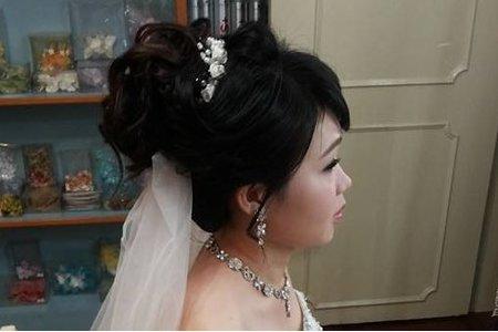 汐止花精靈婚紗美學 新秘Monica老師 高盤造型白紗髮妝