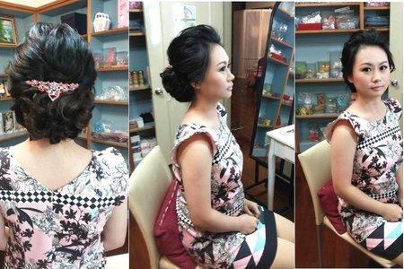 汐止花精靈婚紗美學 新娘秘書Monica老師 低盤髮