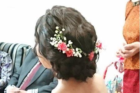 汐止花精靈婚紗美學 新秘Monica老師 2017.11.12瑾筠訂婚