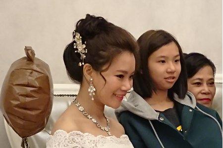 汐止花精靈婚紗美學 婚禮造型Monica老師 2018.1.14秀君結婚補請