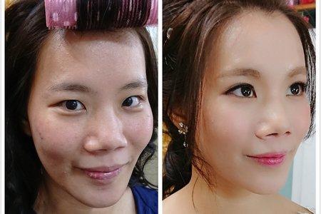 汐止花精靈婚紗美學 Monica老師 2017.12.5游小姐試妝髮