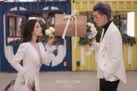 新竹法巴 | 景點婚紗|客照分享|新竹婚紗|歐美時尚風格|個性街拍婚紗|咖啡廳