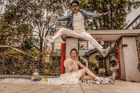 新竹法巴|輕婚紗街拍|情侶寫真