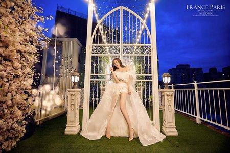 新竹法巴 | 客照分享|夜景|浪漫唯美婚紗|空中花園|日式建築