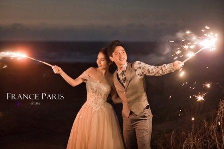 新竹婚紗|復古旗袍|森林系|秋季芒草|海邊浪漫夜景仙女棒