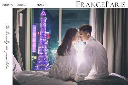 新竹法巴 | 澳門|海外婚紗|國外旅拍|小巴黎鐵塔|情侶